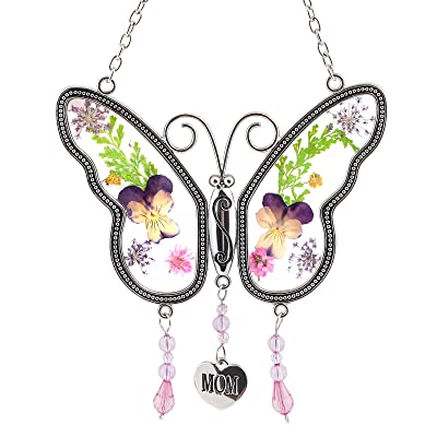 Naler Mom Butterfly Mother Suncatcher - Gift for Mother's Day Christmas Thanksgiving : Garden & Outdoor