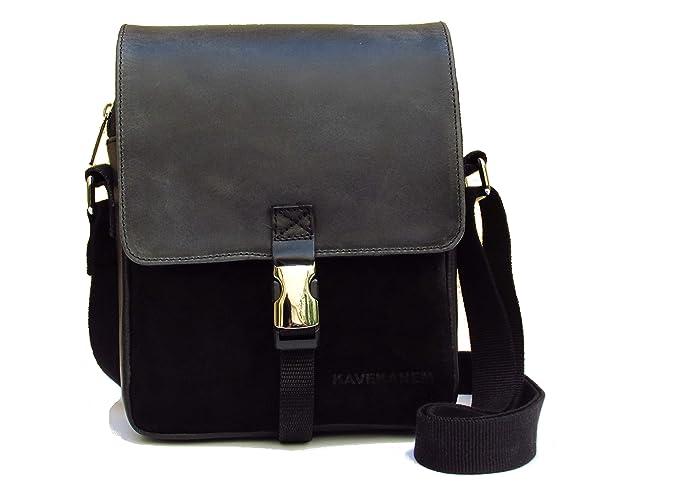 39da99f51c482 Messenger Bag aus Leder und Stoff. Kleine Tasche für Männer. Handgefertigte  Umhängetasche. Handmade