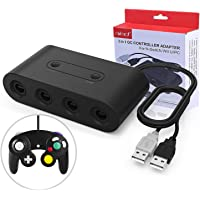 IFORU Gamecube Controller Adapter para Nintendo Switch/Wii U/PC, (Versión Mejorada) Adaptador de mandos Gamecube para Wii U y PC con 4 Puertos