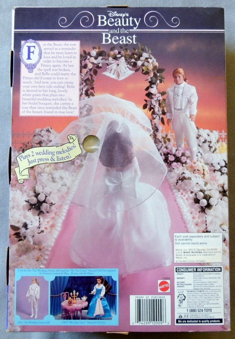 Amazon.com  Disney Beauty and the Beast The Wedding Musical Belle Doll  Toys    Games f4c40c7dbbb8