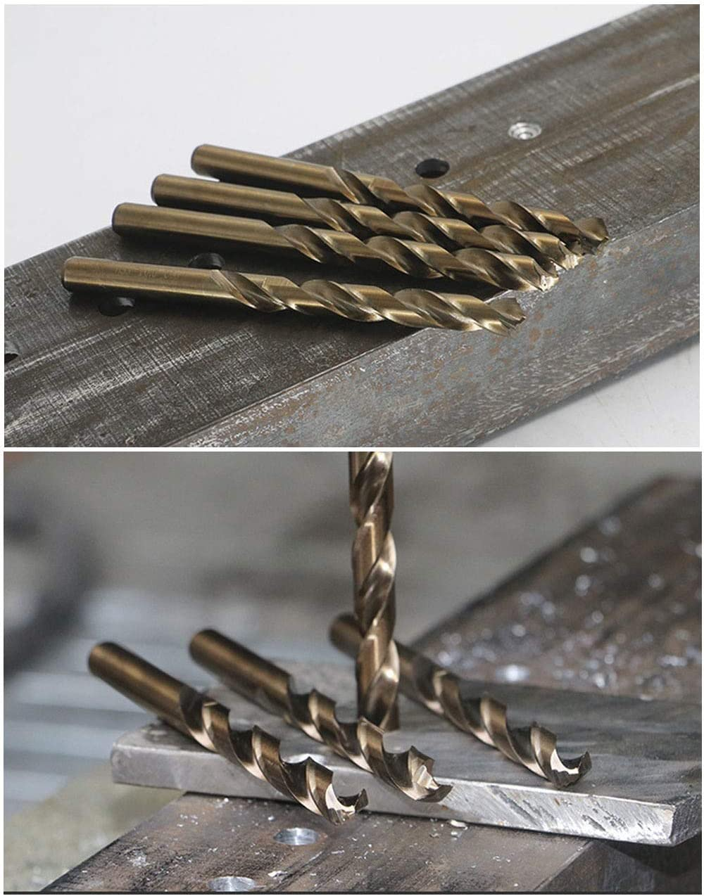 Cast Iron Stainless Steel professional Color : Cobalt, Size : 4.3mm 13mm used for Drilling on Hardened Steel 1PC HSS M42 Cobalt twist Drill Bit 1mm