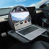BASENOR Tesla Model 3 Model Y Eating/Laptop Steering Wheel Desk Black