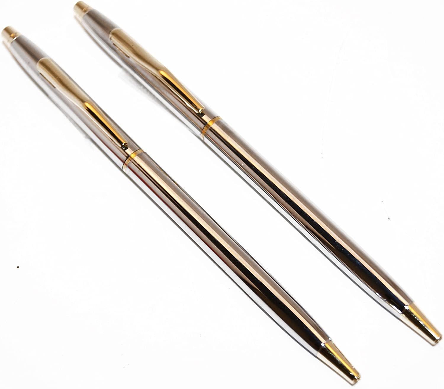 Classic Chrome and Gold Police Uniform Pens | Uniform Pens for Men