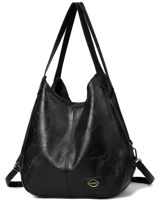 7b98319d Amazon.com: Handbag for Women 3 Compartments Faux Leather Hobo bag Multiple  Pocket Shoulder bag Tote Purse: Shoes