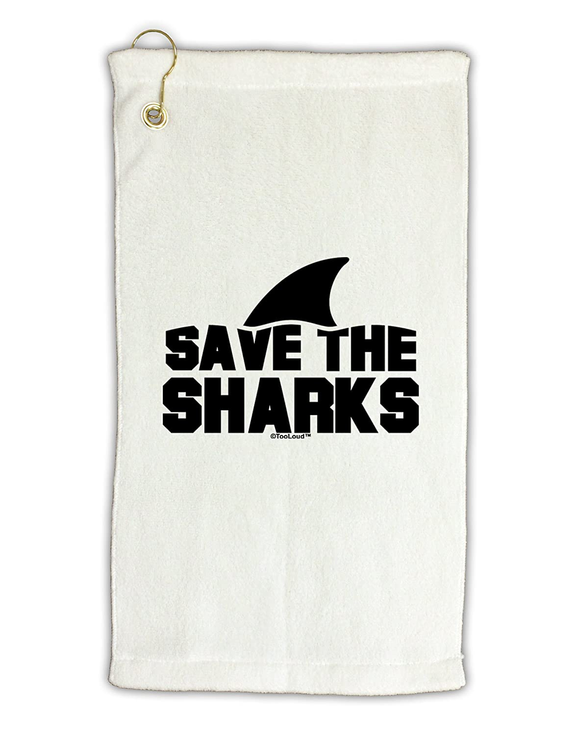 TooLoud Save the Sharks – Fin Micro Terry Grometゴルフタオル11