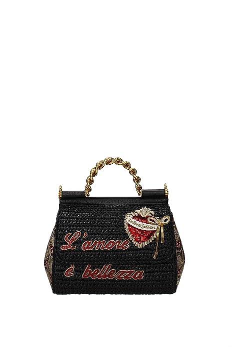0185c42b003 Dolce Gabbana Bolsos de mano sicily md Mujer - Rafia (BB6005AS8598S574)