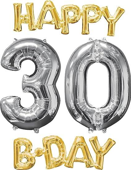 Amazon Amscan International 3606401 Happy Birthday 3 0 Foil