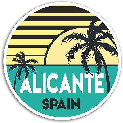 2 x 10cm Alicante pegatinas de vinilo - Viajes España Etiqueta de equipaje portátil # 18009 (10 cm de ancho): Amazon.es: Hogar