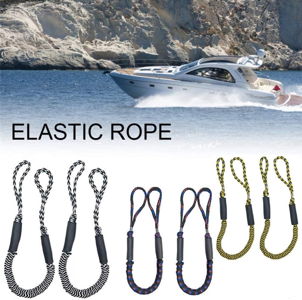 Cuerda el/ástica de nailon para barcos esqu/ís de azabache y l/íneas de amarre RENS 2 unidades