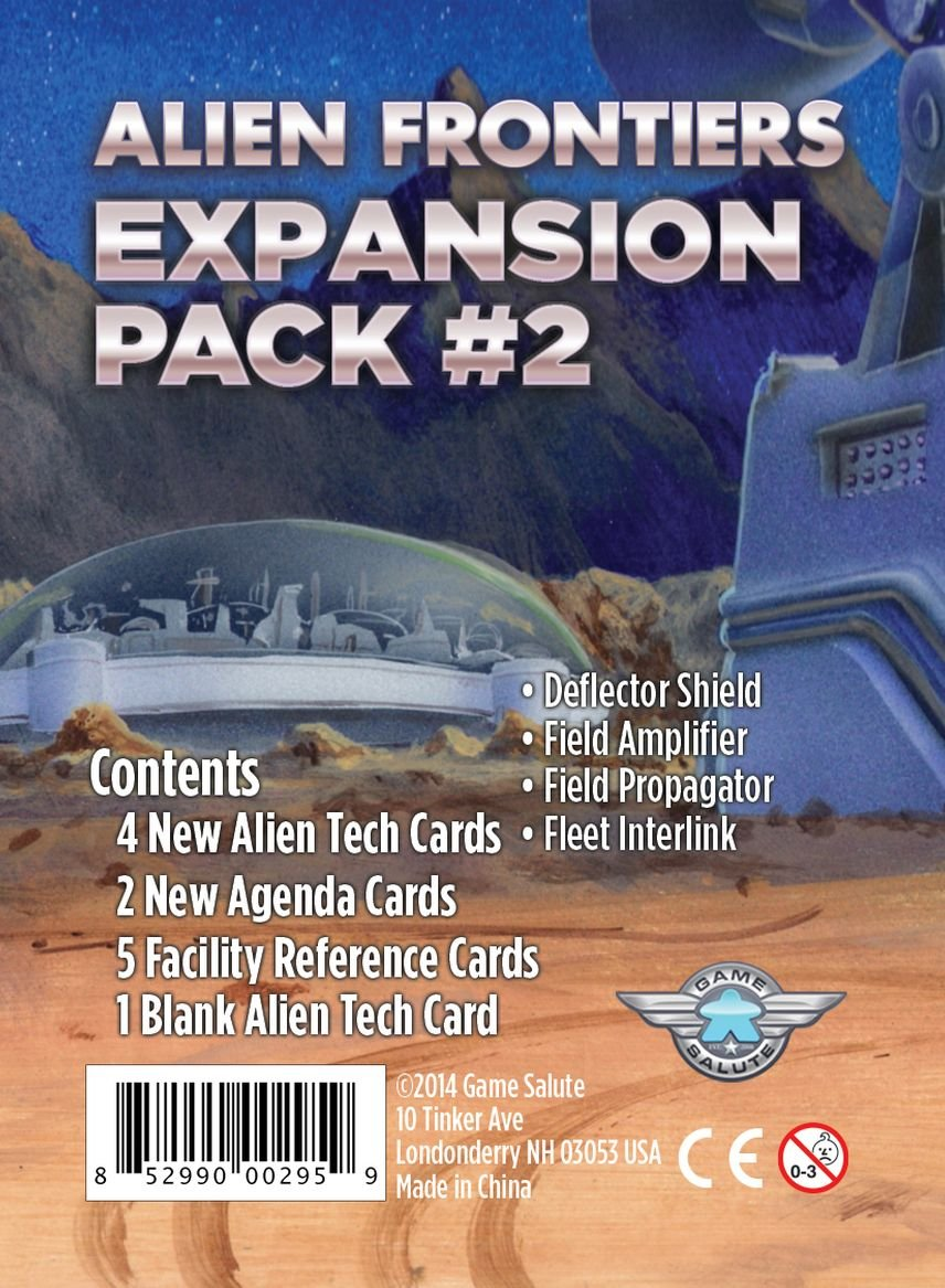 Alien Frontiers Expansion Pack #2 Game Salute