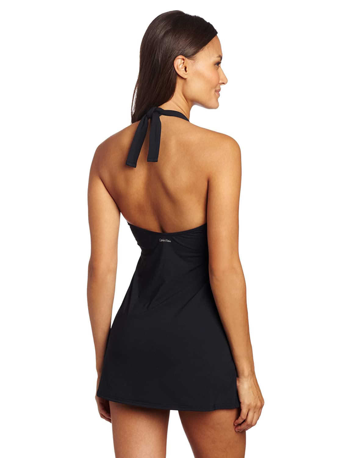 4360cd4858 Calvin Klein Women's Crossover Swim Dress at Amazon Women's Clothing store:  Fashion One Piece Swimsuits