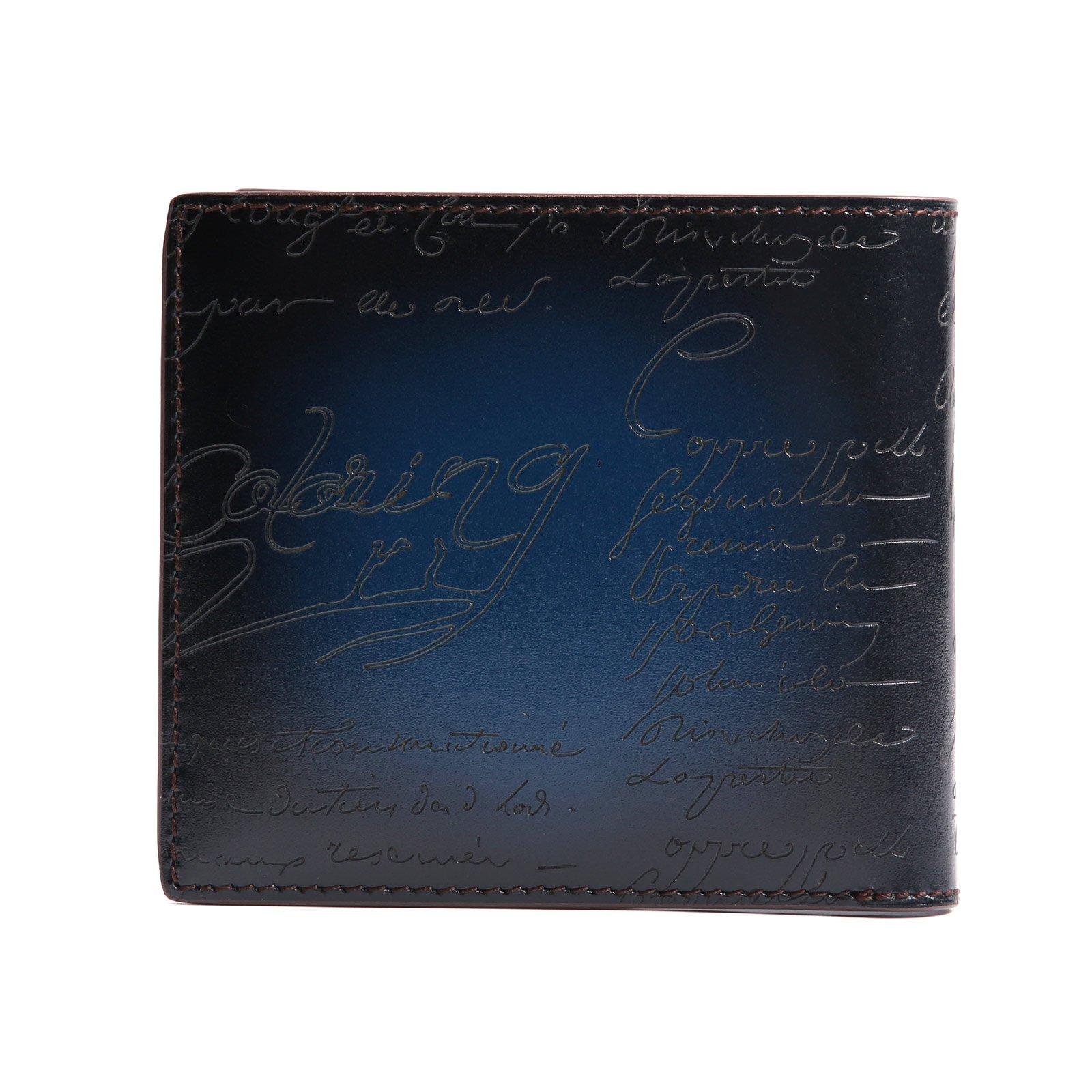 TERSE Front Pocket Leather Wallet Card Holder Emboss Short Bifold Manual Money Clip