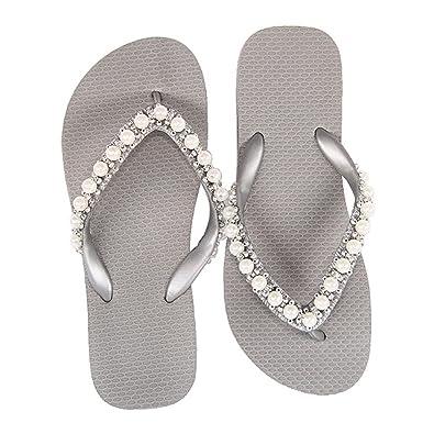 Designer Luxus Flip Flops-Chanclas Exclusivas Simone Herrera-Glamourous Line-Isabella-Riemchen Sandale Zehentrenner (39/40) FuzddXJgAc