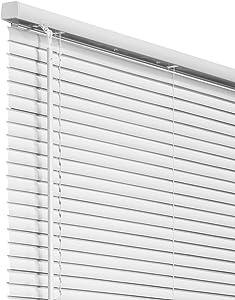 "CHICOLOGY Cordless 1-Inch Vinyl Mini Blinds, Horizontal Venetian Slat Light Filtering, Darkening Perfect for Kitchen/Bedroom/Living Room/Office and More, 31"" W X 36"" H, White (Commercial Grade)"