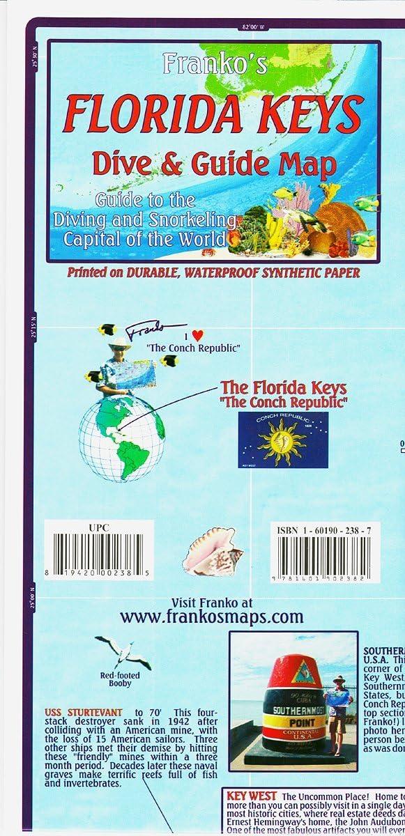 Franko Maps Florida Keys Scuba Diving Guide and Dive