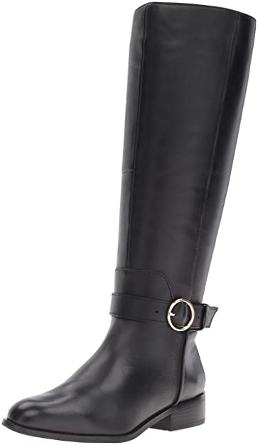ALDO Women's Catriona Harness Boot, Black Leather, ...