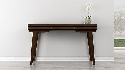 "Amazon.com: Furnitech 54"" Mid-Century Modern Sofa Table in a ..."