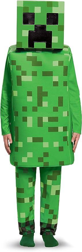 Creeper Deluxe Minecraft Costume, Green, Medium (7-8)