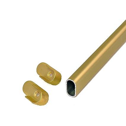 Genial CLOSETbay Oval Closet Rod Kit, Satin Brass (48)