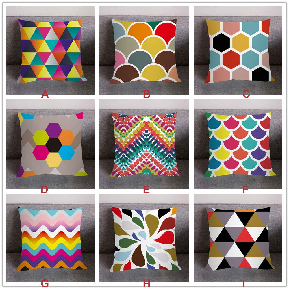 NUWFOR Print Pillow Case Polyester Sofa Car Cushion Cover Home Decor(H) by NUWFOR (Image #3)