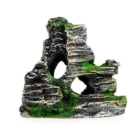 Newin Star Acuario Cueva de Piedra Paisaje Artificial Resina Piedra Cueva del Ornamento de Arrecifes de