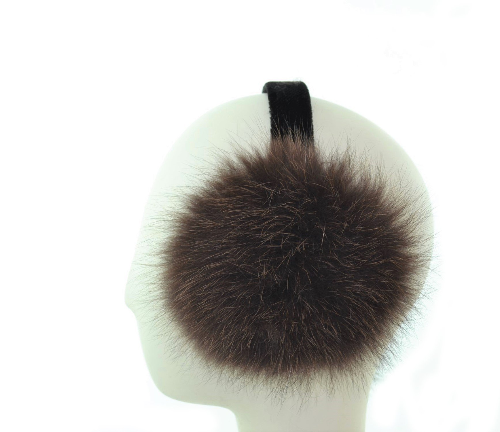 Coyote Fur Earmuff with Velvet Band(Sable)