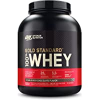 OPTIMUM NUTRITION Gold Standard 100% Whey Double Rich Chocolate Protein Powder 2.27kg, Double Rich Chocolate 2.27kg…