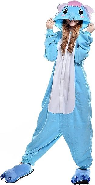 ABYED Pijama Animal Entero Unisex para Adultos Niños con Capucha ...