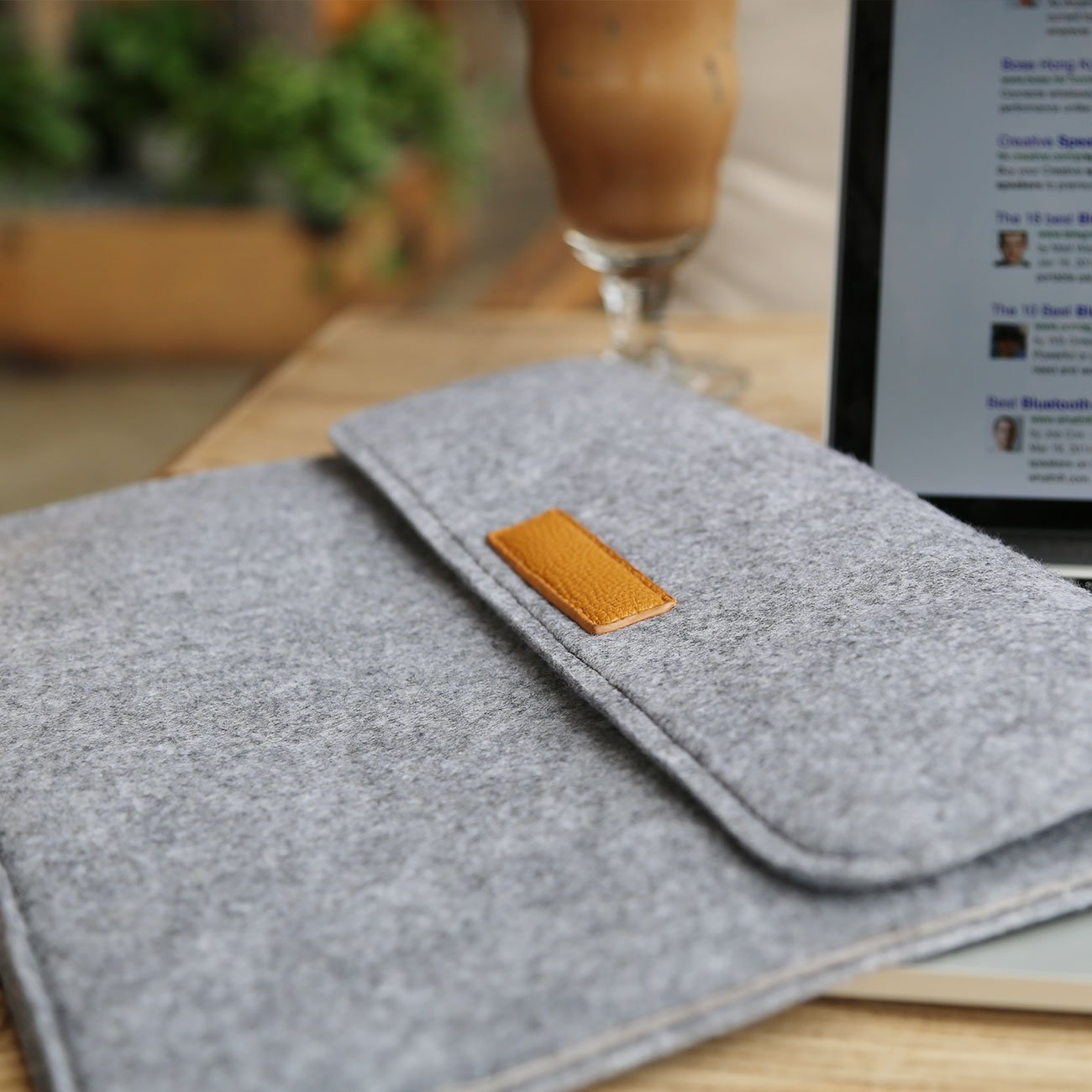 Inateck Filz Sleeve H/ülle Ultrabook Laptop Tasche Kompatibel mit MacBook pro 15,4 Zoll