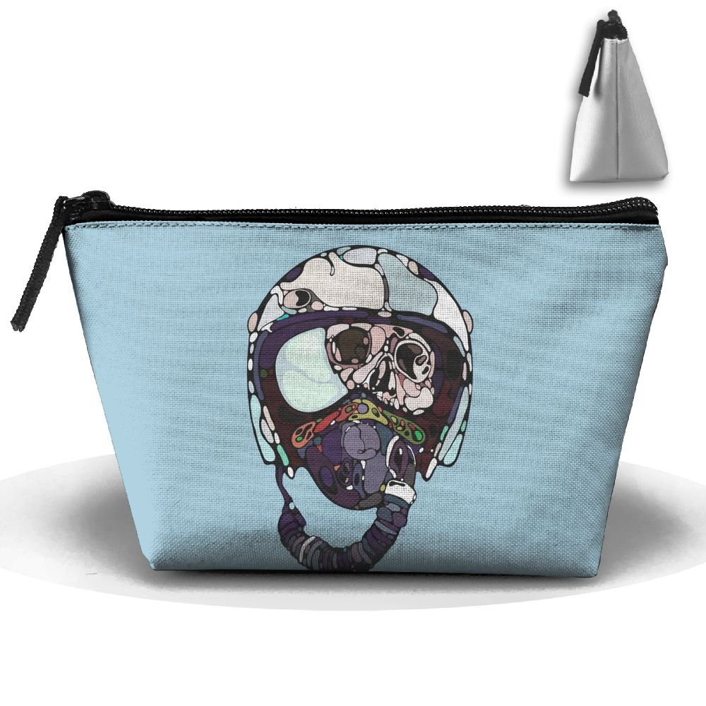 Unisex Stylish And Practical Funny Dead Cartoon Pilot Design Trapezoidal Storage Bags Handbags