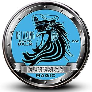 Balm Bossman Relaxing Beard Balm - Tame - Thicken - Protect your beard. Made in USA (Magic Scent)