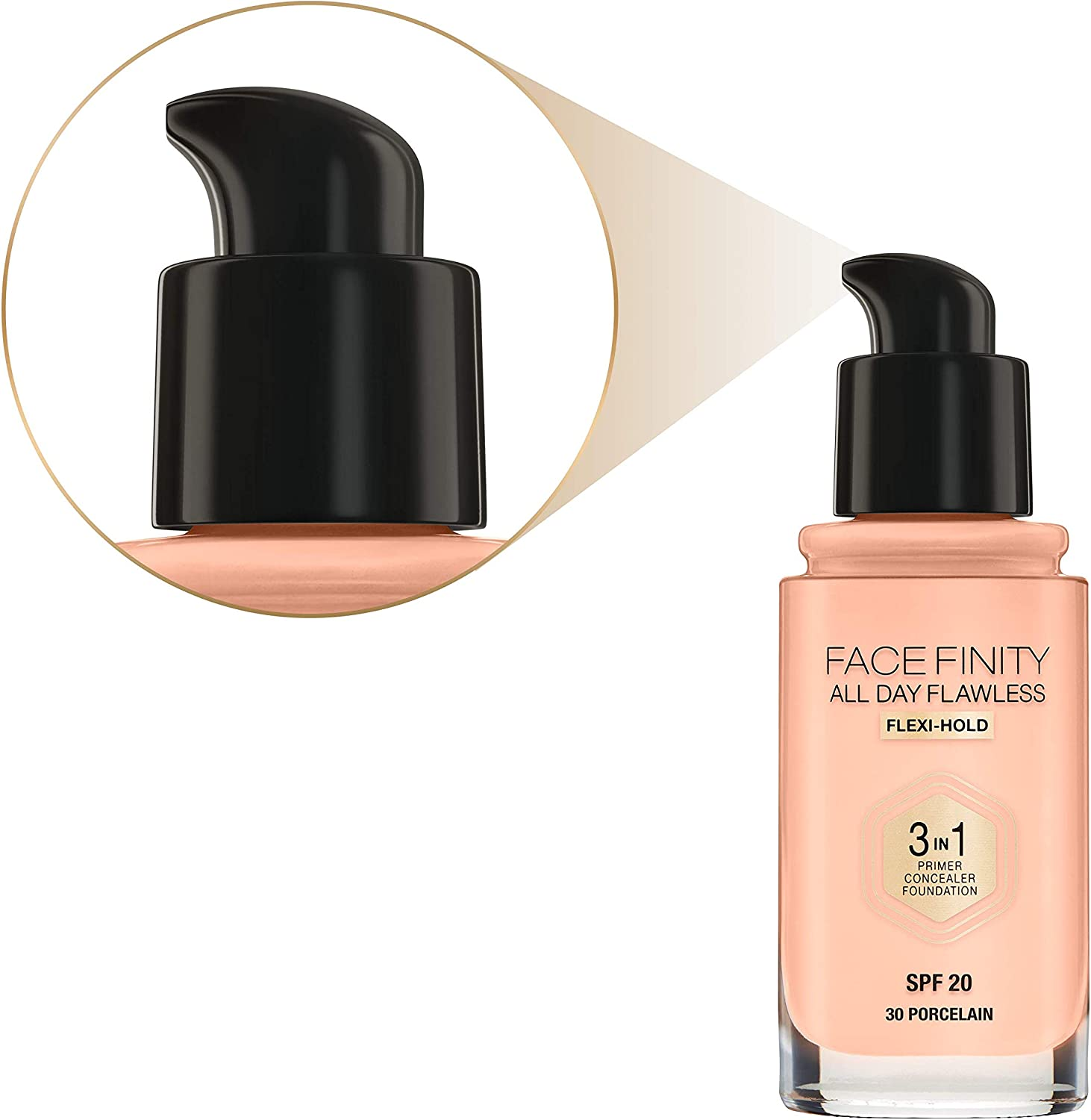 Max Factor Facefinity All Day Flawless 3 In 1 Foundation SPF 20, No. 30 Porcelain