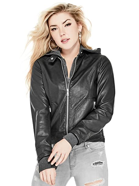 Amazon.com: G By Guess para mujer kate chamarra de piel ...
