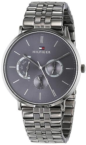 Tommy Hilfiger Reloj Multiesfera para Hombre de Cuarzo con Correa en Acero Inoxidable 1710374: Amazon.es: Relojes