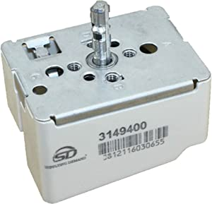 Supplying Demand 3149400 Large Surface Infinite Switch 8.9-11.0A 240 Volts