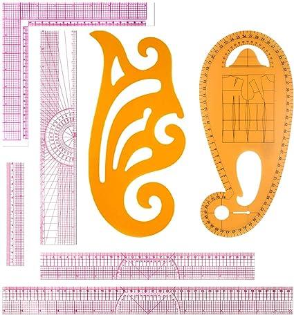 7pcs French Tailor Sew Curve Ruler Metric Measure Dressmaking Tool Sewing U4H3