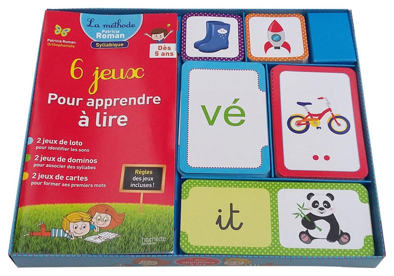 Populaire Amazon.fr - 6 jeux pour apprendre à lire - Patricia ROMAN - Livres RS61