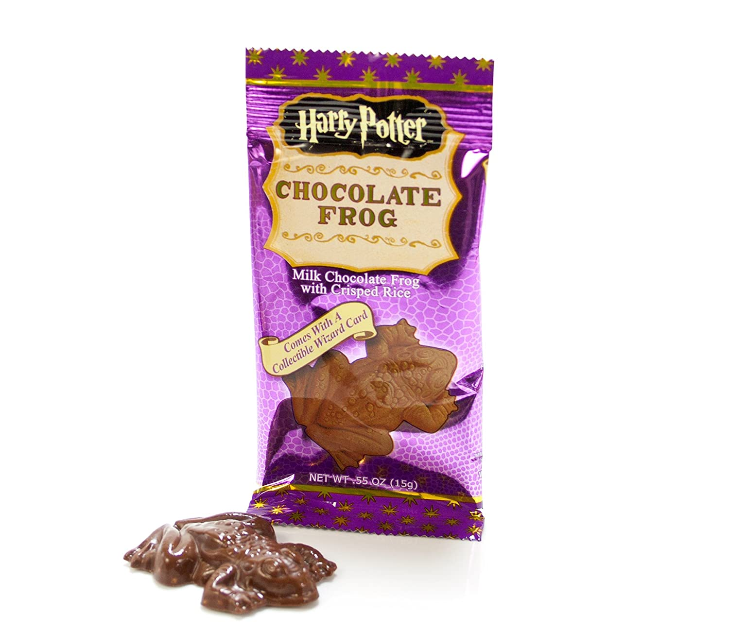 Amazon.com : Harry Potter Chocolate Frog with Wizard Trading Card ...