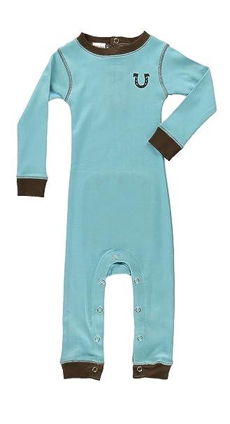 5d96e2f7ebb3 Lazy One Infant Flapjack Pajama Onesie Blue