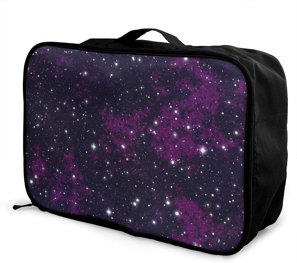 Yunshm Stars Starry Sky Astronomy Universe Galaxy Glitter Personalized Trolley Handbag Waterproof Unisex Large Capacity For Business Travel Storage