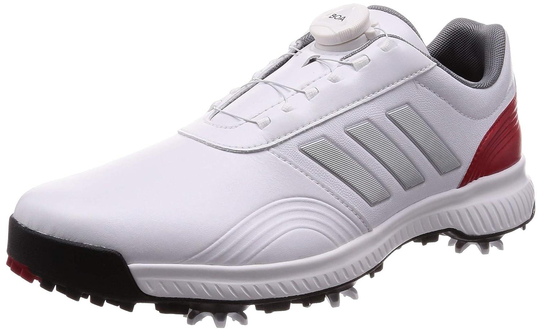 [アディダスゴルフ] ゴルフスパイク CP トラクション ボア メンズ ホワイト/シルバーメタリック/スカーレット 28 cm