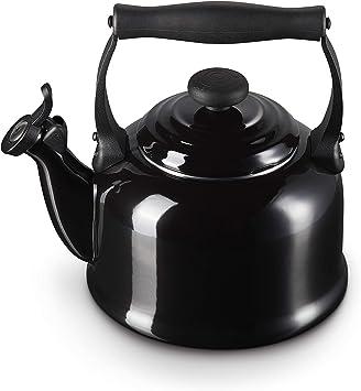 Le Creuset Bouilloire, Capacité : 2.1 L, Acier EmailléPhénol, Tradition, Noir