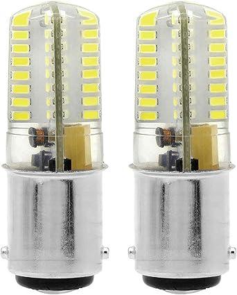 ZOZO Bombillas LED Ba15d 4W No Regulable Brillo Ultra Alto Blanco ...