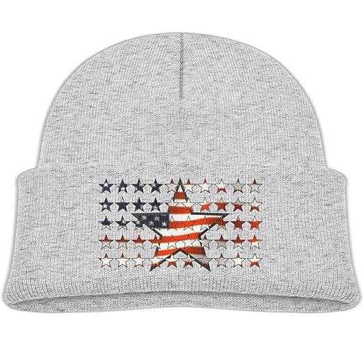 9994bf484a1158 Amazon.com: deseweke Beanie Hat Wool Knit Cap American Flag Stars Boy Girls  Baby Soft: Clothing