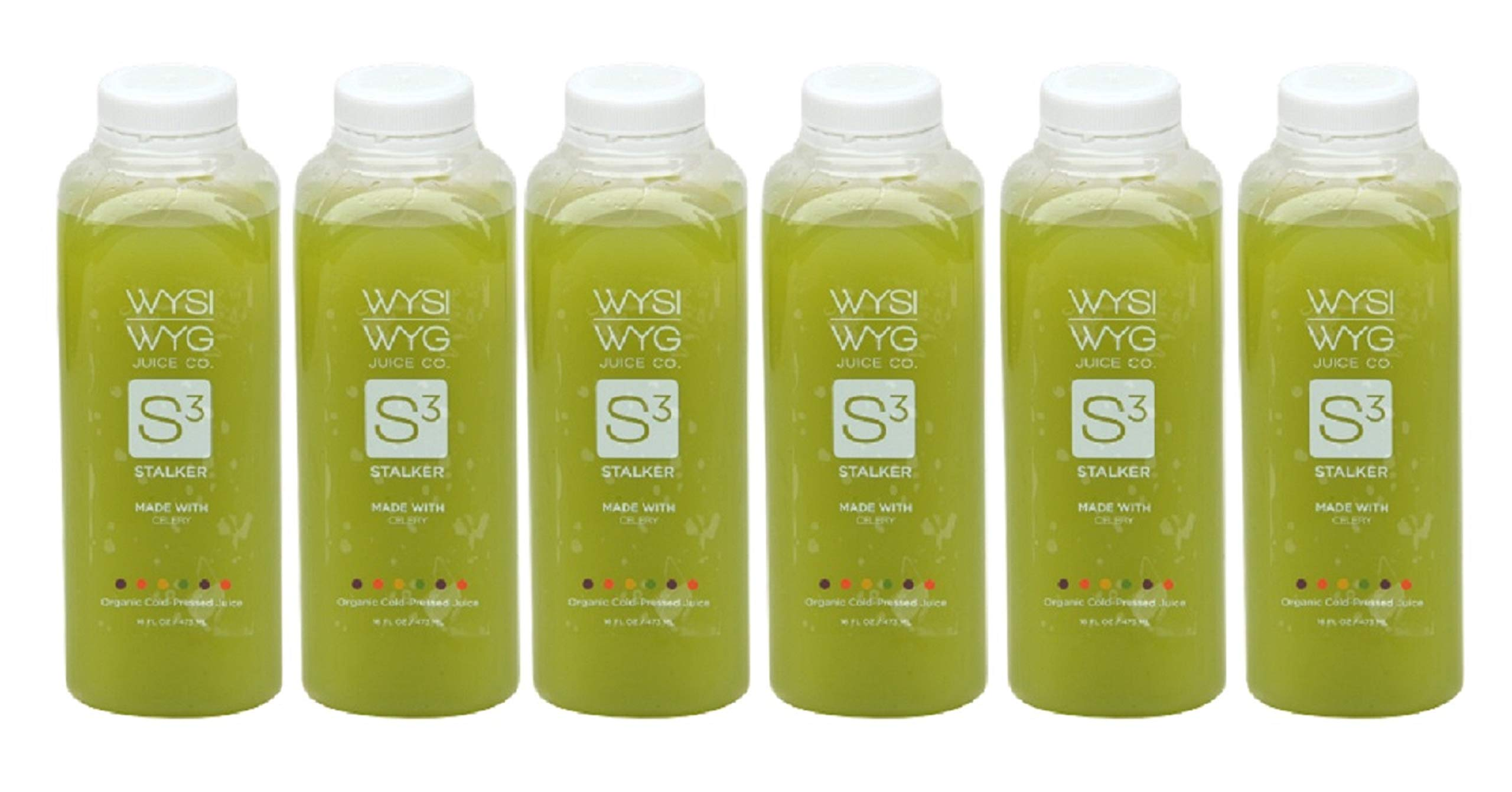 WYSIWYG Cold Pressed Plant Powered STRAIGHT UP Celery Juice (6 Pack 16oz) by WYSIWYG Juice Co.