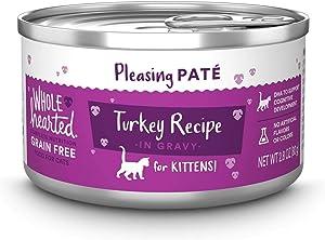 Petco Brand - WholeHearted Grain-Free Turkey Recipe Pate Wet Kitten Food, 2.8 oz., Case of 12, 12 X 2.8 OZ