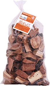 Camerons Products Smoking Wood Chunks (Cherry) 840 cu. in. (0.013m³)- Kiln Dried BBQ Large Cut Chips- All Natural Barbecue Smoker Chunks- 10 Pound Bag (May Receive in Bag or Box)