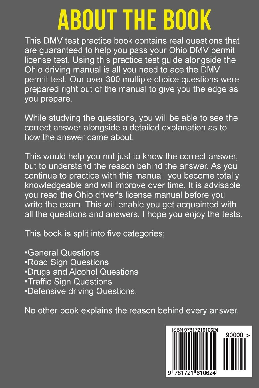 Ohio DMV Permit Test Questions And Answers: Over 300 Ohio DMV Test  Questions and Explanatory Answers with Illustrations: Jonah Taylor:  9781721610624: ...