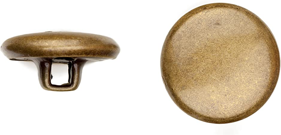 45-Piece Size 24 Polished Gold Finish C/&C Metal Products Corp 5002 Quarter Dome Metal Button