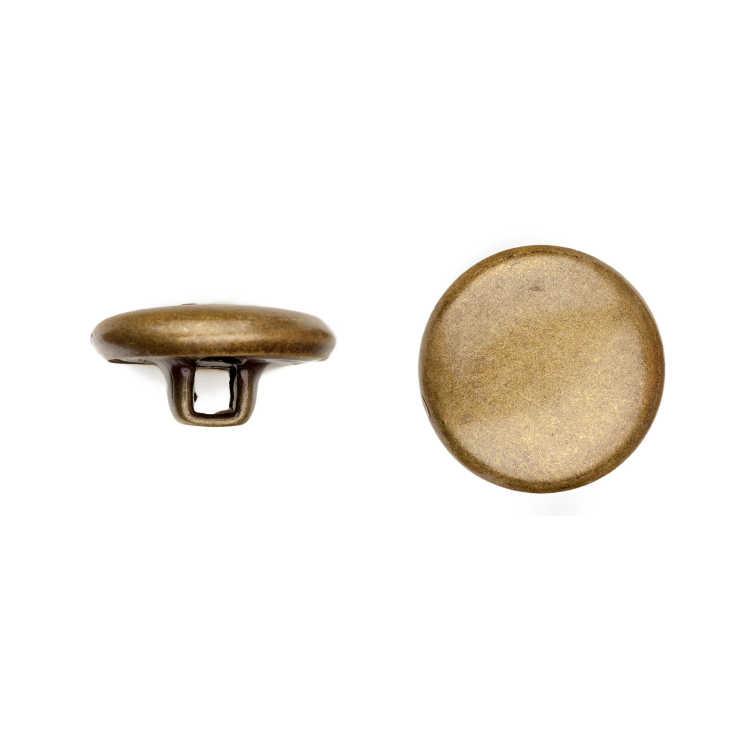 C&C Metal Products Corp 5002 Quarter Dome Metal Button, Size 36, Colonial Gold Finish, 36-Piece